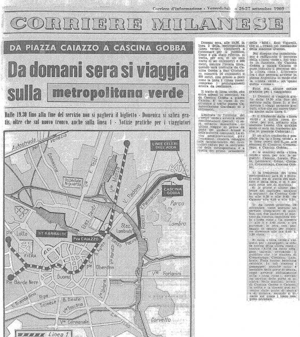 Buon compleanno M2, la metropolitana Verde di Milano compie 50 anni e si rinnova