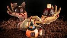 Zucche e pipistrelli, i dolci di cioccolato di Knam per Halloween  di LUCIA LANDONI