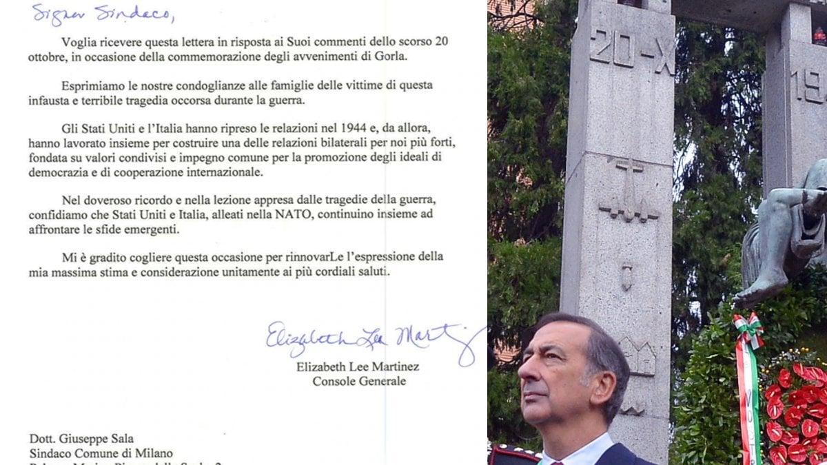 """Strage delle piccole vittime di Gorla, dopo 75 anni le condoglianze degli Usa a Milano. Sala: """"Gesto significativo"""""""