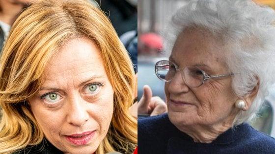 """Meloni: """"Fratelli d'Italia al fianco di Liliana Segre su antisemitismo e fondamentalismo islamico"""""""