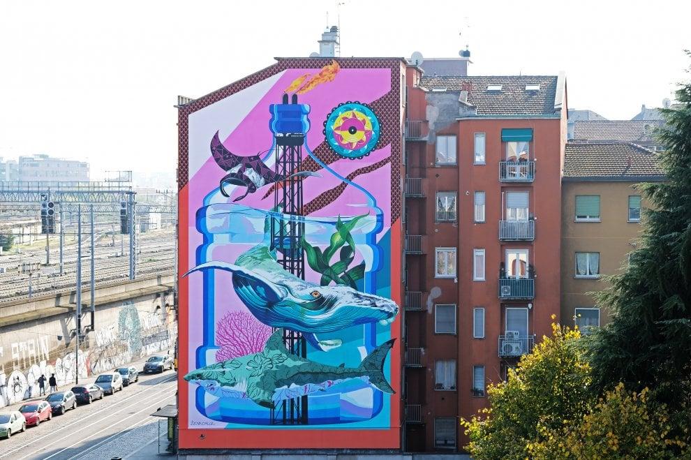 Street art a Lambrate: spunta il maxi-murale di Iena Cruz contro l'inquinamento - la Repubblica