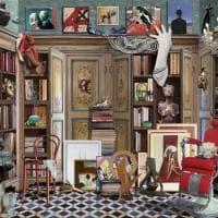 Biblioteche oniriche e città da sogno: il mondo di Gloc in mostra a Milano