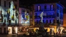 Il borgo di Lovere trasformato in un maxischermo per le feste