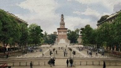 La nuova vita di piazza Castello: filari di alberi e granito bianco per il restyling   · Foto