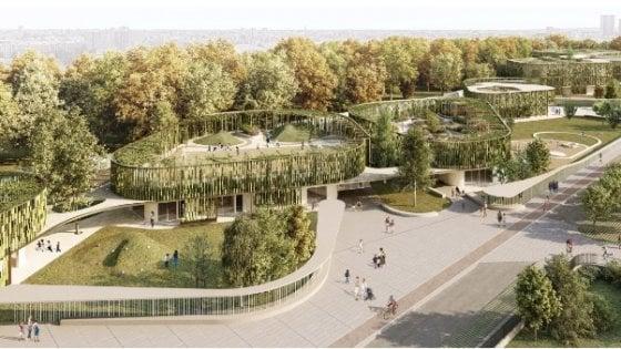 Le 'aule parco' e l'edificio che si apre sul quartiere: a Milano approvati i progetti per due nuove scuole