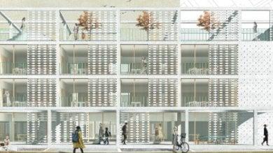Le 'aule parco' e l'edificio aperto sul quartiere: sì ai progetti per due scuole   · Ft
