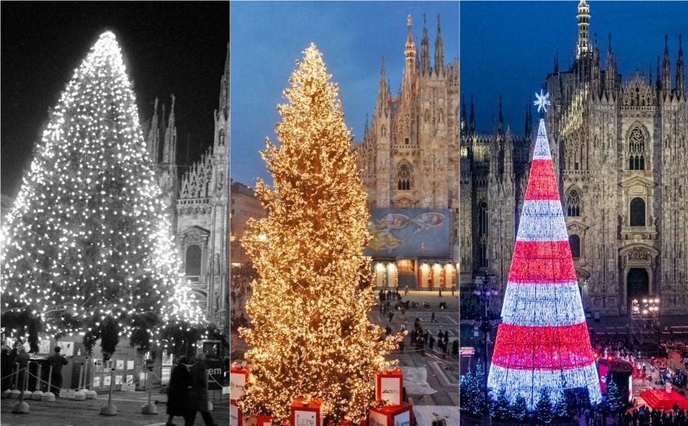 Albero Di Natale Milano.Dagli Anni Settanta A Oggi Come E Cambiato L Albero Di Natale Di Piazza Duomo A Milano La Repubblica