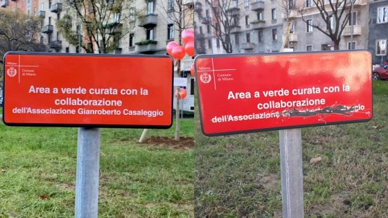 Vandalizzata a Milano la targa del giardino per Gianroberto