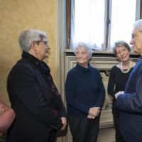 Piazza Fontana, a Milano il presidente Mattarella incontra le vedove Calabresi e Pinelli
