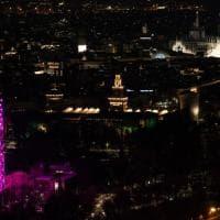 La Torre Branca si illumina di rosa: 300 luci led e percorsi interattivi