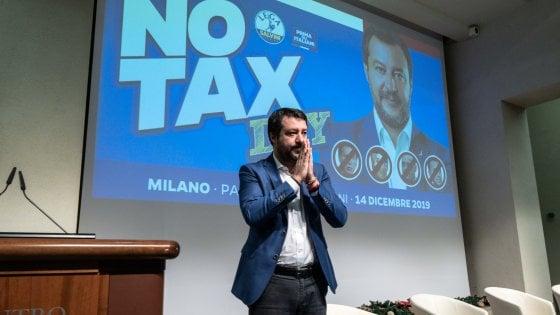"""L'appello di Salvini: """"Via lo steccato maggioranza-opposizione, facciamo un patto per salvare l'Italia"""""""
