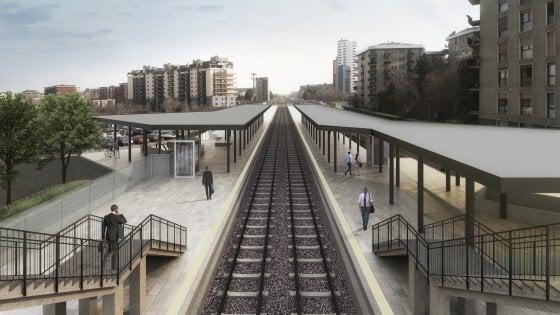 """Binari interrati e una """"collina verde"""" tra lo Scalo Romana, il metrò e la Fondazione Prada: il progetto per il Villaggio Olimpico"""