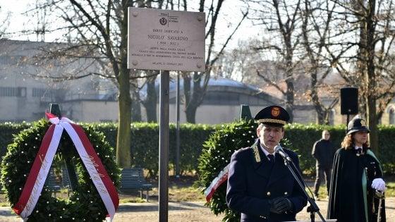 """Milano commemora il vigile ucciso. Le parole del fratello: """"Attendiamo giustizia vera e propria"""""""