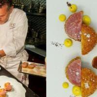 """Lo chef Perbellini brevetta la """"sua"""" cotoletta alla milanese: """"Cruda e cotta con una..."""