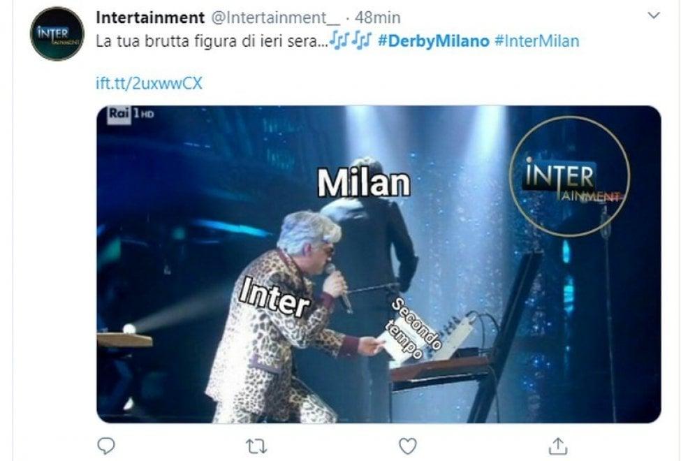 Lukaku-Libertà e il Milan come Bugo a Sanremo: gli sfottò per il derby di Milano sui social