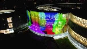 Il nuovo campus Bocconi si trasforma in uno schermo per il videomapping 3D