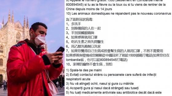 I consigli del ministero per il coronavirus tradotti da Arci nelle lingue più utilizzate a Milano
