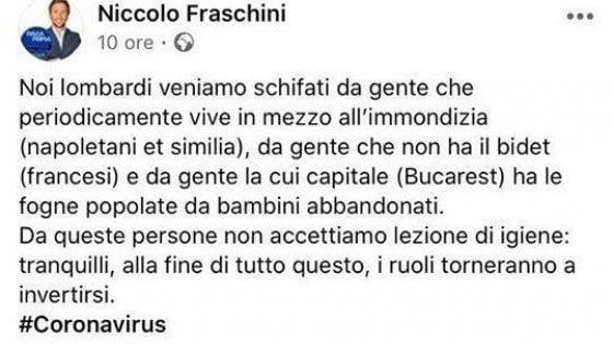 """Coronavirus, consigliere di Pavia Niccolò Fraschini insulta Napoli: """"Non accettiamo lezioni da chi vive nell'immondizia"""""""