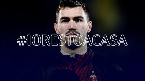"""Coronavirus, l'appello del capitano del Milan Romagnoli: """"Dobbiamo stare a casa, ci alleneremo lì"""""""