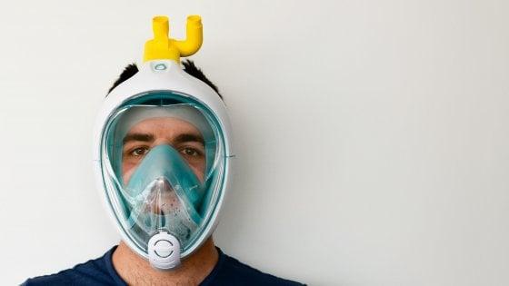 Coronavirus, la maschera da snorkeling diventa respiratore con la stampa 3D: il prototipo testato a Brescia