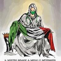 La Pietà di Michelangelo racconta l'emergenza coronavirus