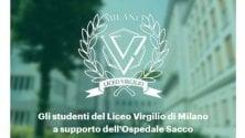 Gli studenti del liceo Virgilio lanciano la raccolta fondi per l'ospedale Sacco