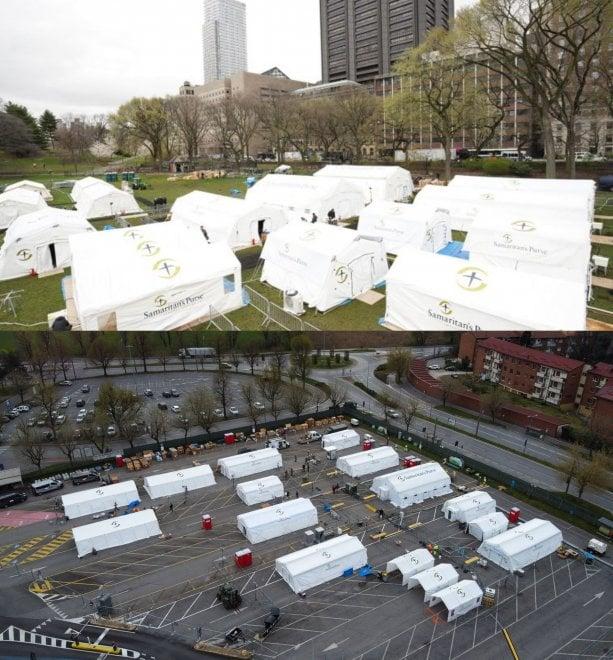 Coronavirus, a Central Park di New York l'ospedale da campo gemello di quello di Cremona