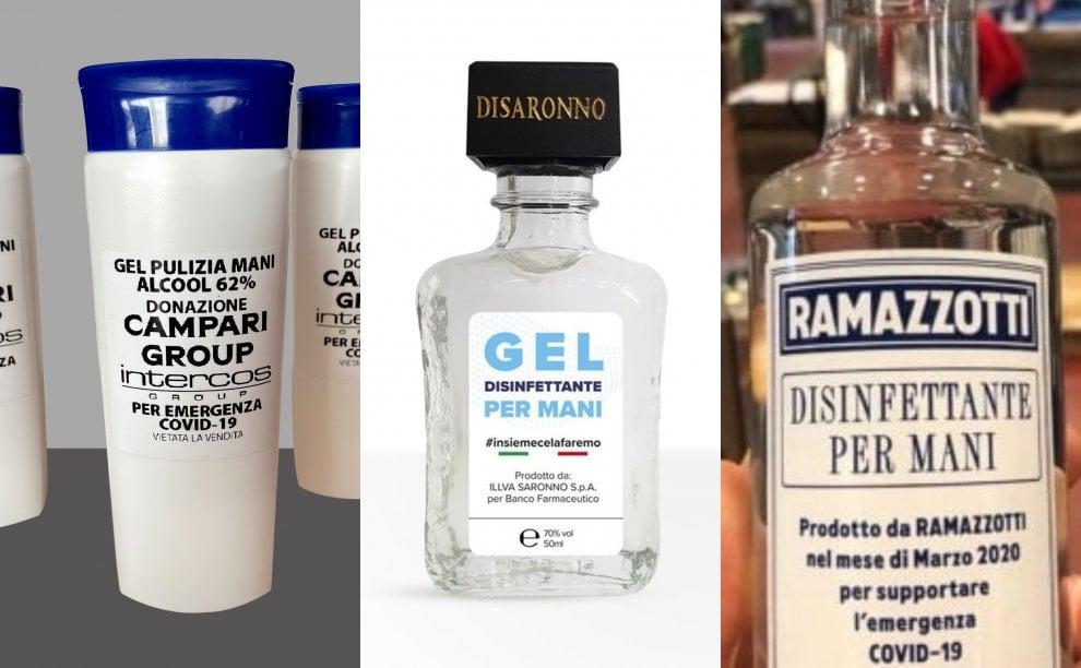 """L'amaretto Disaronno diventa gel disinfettante: un altro modo di """"resistere, resistere, resistere"""""""