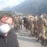 Coronavirus, i militari dell'esercito in servizio nella Bergamasca donano