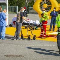 Coronavirus, prove generali per accogliere i malati all'ospedale da campo di Bergamo