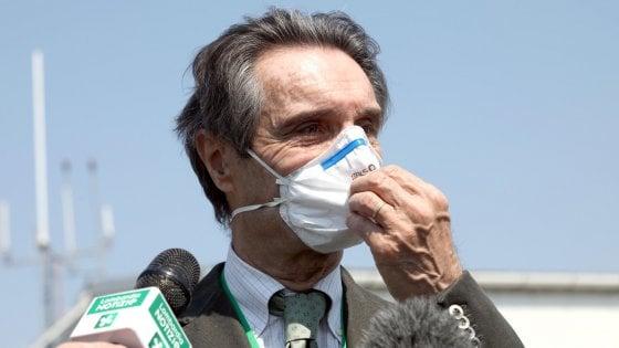 """Anziani morti nelle Rsa lombarde, Fontana: """"L'utilizzo di quelle case di riposo per i malati Covid è responsabilità dell'Ats"""""""
