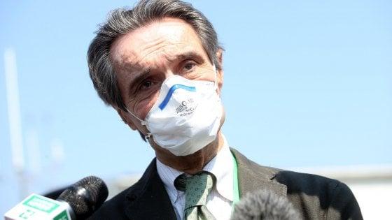 """Coronavirus, no di Fontana alle aperture differenziate: """"Grosso rischio"""". Scontro con De Luca: """"Non chiuderemo ai campani che vengono qui a curarsi"""""""