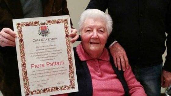 Morta la staffetta Piera Pattani, sesta vittima del coronavirus tra i partigiani milanesi