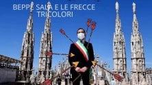 Beppe Sala 'trafitto' dalle frecce: polemica sulla foto modificata dal consigliere della Lega