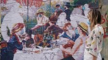 La colazione dei canottieri di Renoir in versione coronavirus: la rivisitazione sul Naviglio