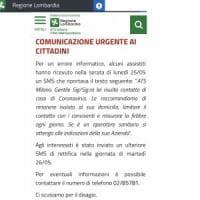 Coronavirus, l'Ats di Milano invia per sbaglio messaggi sui cellulari: