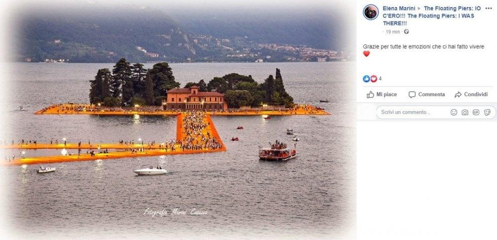 """Christo, sui social l'addio al creatore dei Floating Piers sul lago di Iseo: """"Grazie per averci reso un'opera d'arte"""""""