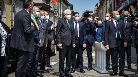 """2 Giugno, Mattarella a Codogno: """"Da qui riparte l'Italia del coraggio e da qui ribadiamo i valori della Costituzione"""""""