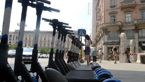 Milano, a luglio 6 mila monopattini in sharing, alternativa ai mezzi pubblici