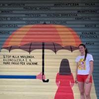 La street art contro la violenza sulle donne: sulle saracinesche di Milano i disegni degli studenti dello Ied