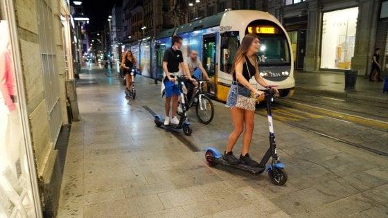 Milano, negli ultimi due mesi almeno 74 incidenti con i monopattini