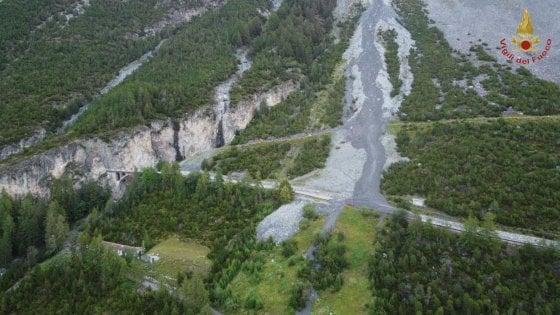 Frana in Valtellina per il maltempo: chiuso un tratto della statale dello Stelvio