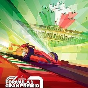 """Monza, presentato il poster del Gp di Formula 1: polemica social per lo stile """"fascista"""""""