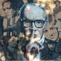 A Buccinasco un grande murale dedicato a Ennio Morricone
