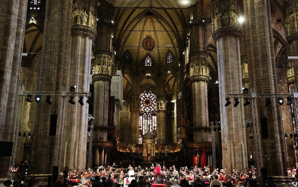 Messa da requiem in Duomo a Milano: le prove dell'orchestra del Teatro alla Scala