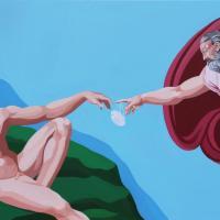 """""""Mr. Quarantine"""", in quarantena con ironia: in mostra i santi e i supereroi con la mascherina dell'artista Giuseppe Veneziano"""