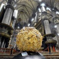 Giornata mondiale dell'alimentazione: in Duomo il maxi globo fatto di pane