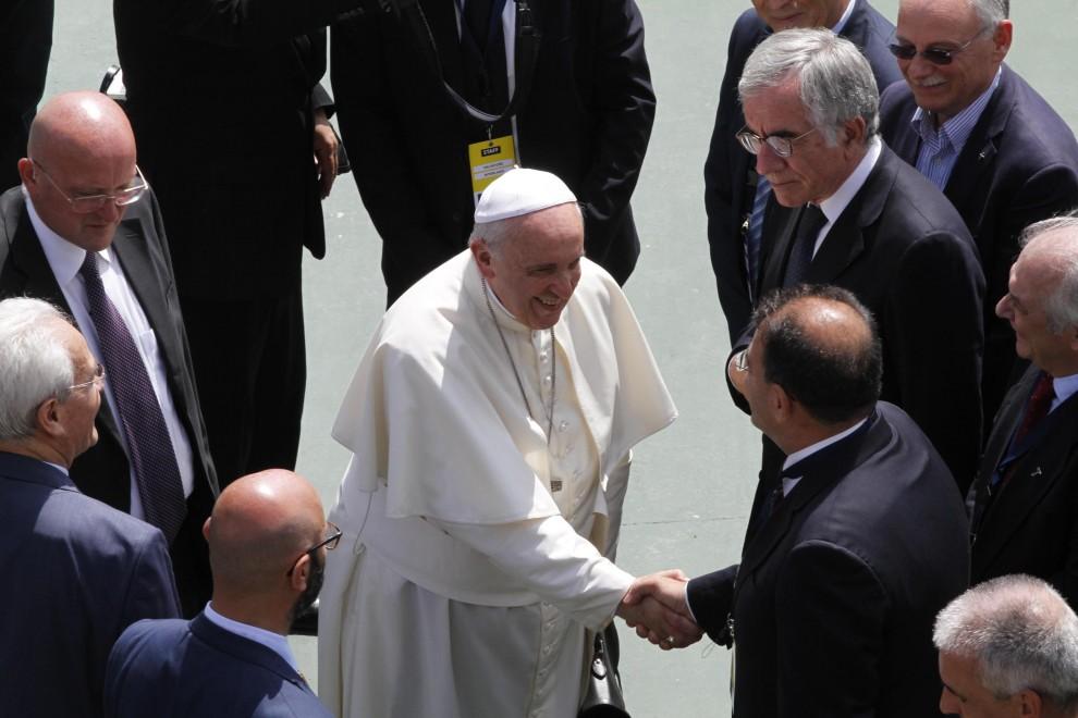 Caserta, il papa visita la Comunità evangelica