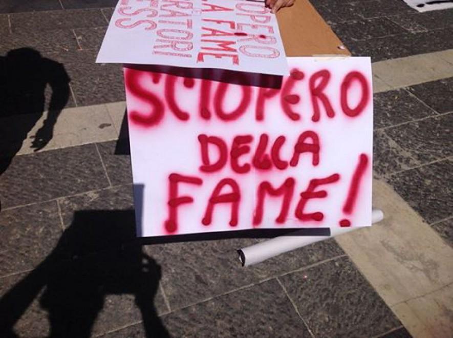 Tess Costa del Vesuvio in sciopero della fame