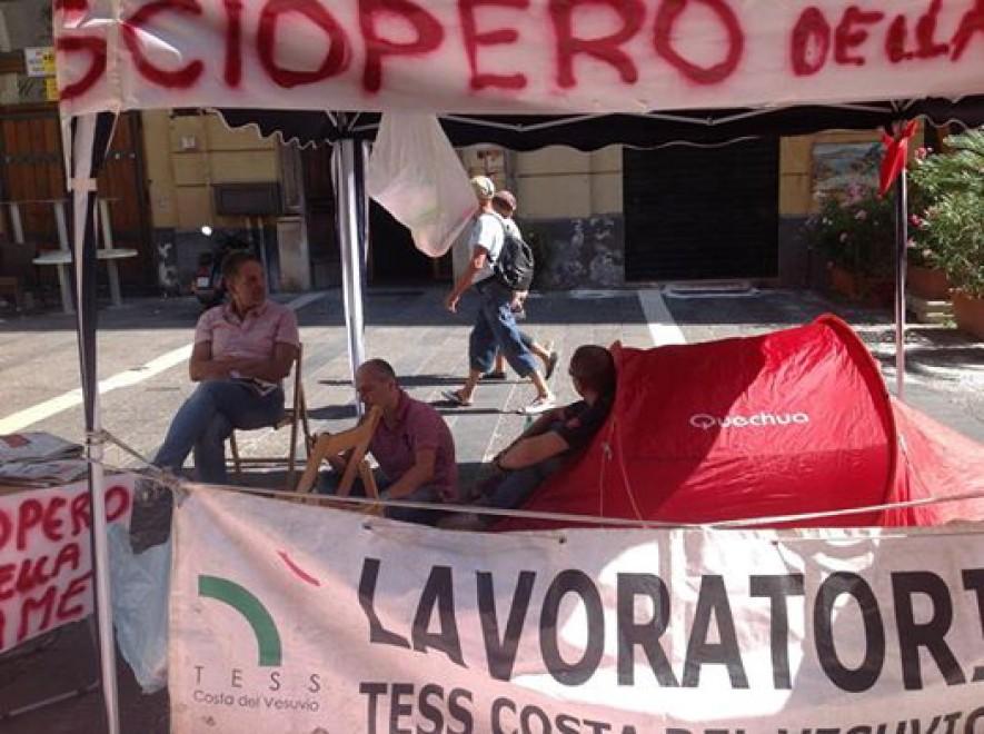 Tess Costa del Vesuvio, continua lo sciopero della fame